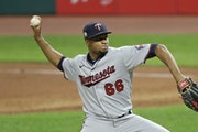 Minnesota Twins relief pitcher Jorge Alcala.