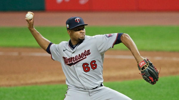 Minnesota Twins relief pitcher Jorge Alcala.