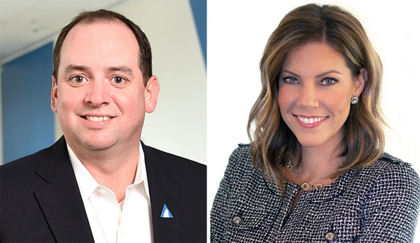 Nick Schneider, Arctic Wolf's president, and Kristin Dean, senior vice president of people.