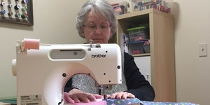 Denise Smalley of Chatfield sewed a dress for an Iowa-based nonprofit, Dress a Girl Around the World. Smalley and a group of women at her church have