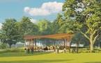 The planned Pavilion in the Commons, coming to Excelsior, will be an open-air facility on Lake Minnetonka, replacing the 1976-era band shell.