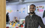 Abdi Daisane, owner of Blooming Kids Child Care Center in St. Cloud, last week. During the pandemic, daily attendance has dropped from 150 kids to 30
