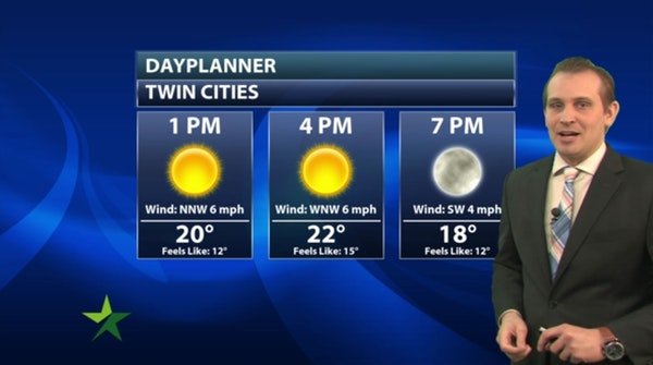 Afternoon forecast: Sunny and chilly, high 23; warmth returns Tuesday