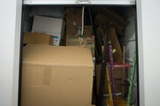 Boxes and furniture fill a packed storage unit  at Twin Cities Self Storage in 2014. (Staff photo by Aaron Lavinsky/ aaron.lavinsky@startribune.com)