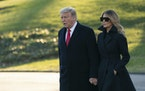 President Donald Trump and first lady Melania Trump depart the White House in Washington, D.C., en route to Mar-a-Lago in Palm Beach, Florida, on Wedn