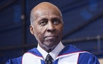 Vernon Jordan attends a commencement ceremony at Howard University in Washington, May 7, 2016.