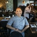 Chef Ann Ahmed in the dining room at Lat14 in Golden Valley. RICHARD TSONG-TAATARII richard.tsong-taatarii@startribune.com