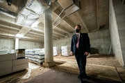 Drew Evans, Superintendent of the BCA, Bureau of Criminal Apprehension, stood in space originally designed as a gun range. He hopes to expand the Minn