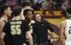 Ricard Pitino talked to his players during a game against Purdue last month.