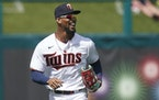 The Twins didn't manage much offense against the Braves, but Byron Buxton, shown here on Sunday, did manage his first hit of spring training.