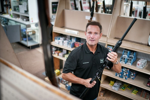 Kory Krause, owner of Frontiersman Sports, said his St. Louis Park gun store saw a surge in sales due to the pandemic and the aftermath of George Floy