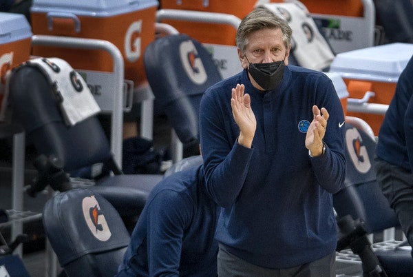 """Though the Timberwolves are 0-4 under Chris Finch, the new coach says, """"I've been around them enough [to know] that they definitely care."""""""