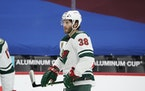 Wild center Ryan Hartman suffered a lower-body injury in Monday's 5-4 overtime loss to Vegas and won't play in Wednesday's rematch.