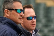 Twins Senior Vice President and General Manager Thad Levine and Executive Vice President and Chief Baseball Officer Derek Falvey ANTHONY SOUFFLE • a