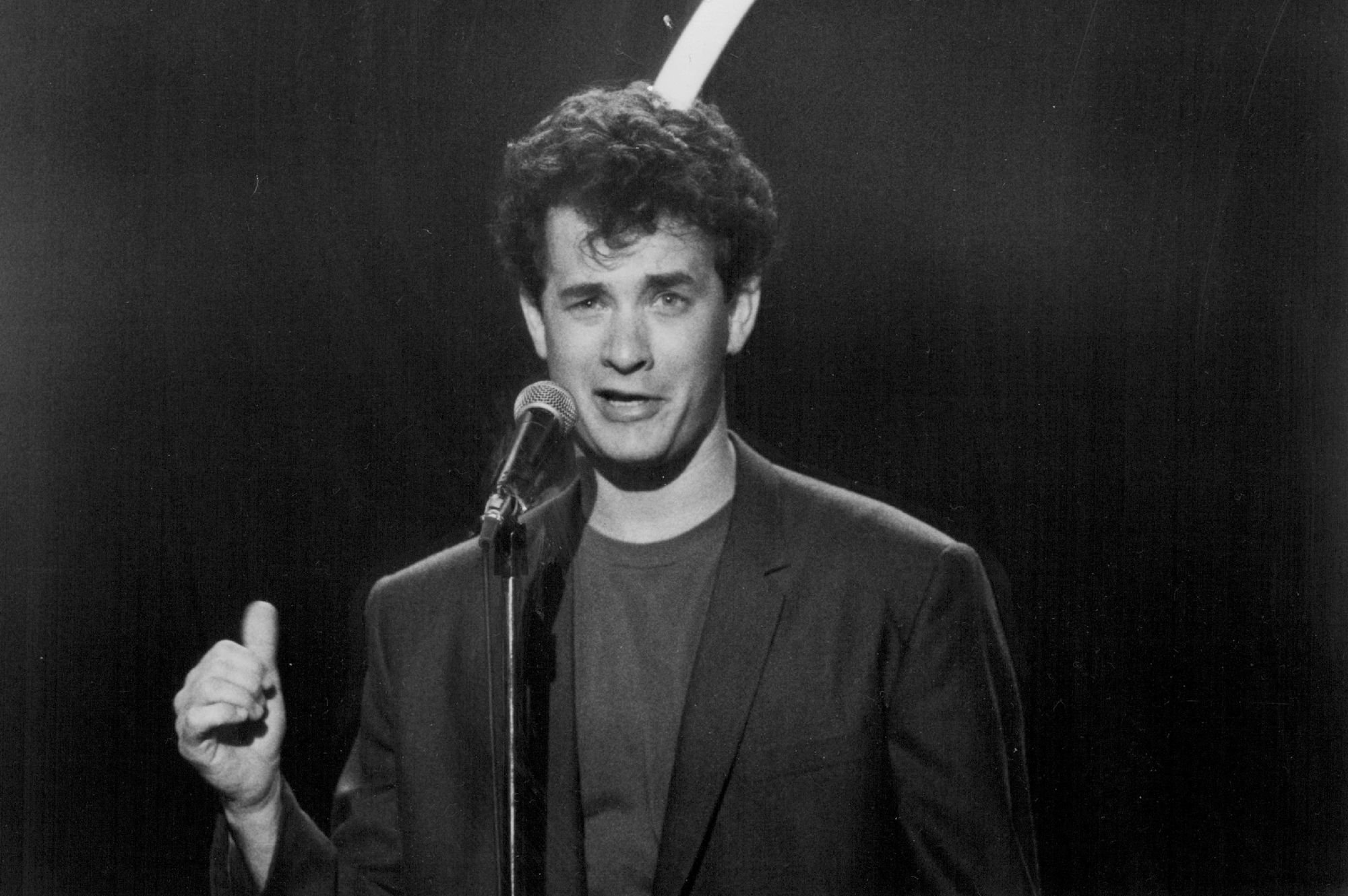 Tom Hanks played Steven Gold, obsessed with making it as a stand-up comic, in 'Punchline.'