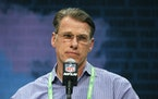 Vikings general manager Rick Spielman at the NFL scouting combine last year.