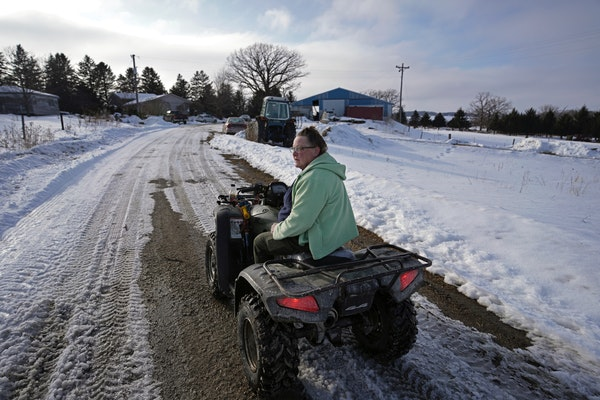 Bonnie Haugen and her family have been farming near Canton, Minn., near the Iowa border since the 1990s.