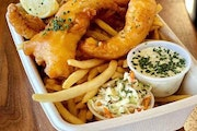 The fish fry at Burger Dive/Smack Shack in Rosedale.