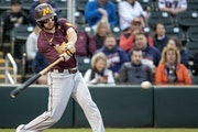 CARLOS GONZALEZ • Star Tribune Gophers second baseman Zack Raabe batted .463 last year in a pandemic shortened season.
