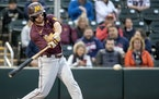 CARLOS GONZALEZ • Star Tribune Gophers second baseman Zack Raabe batted .463 last year in a pandemic shortened season.