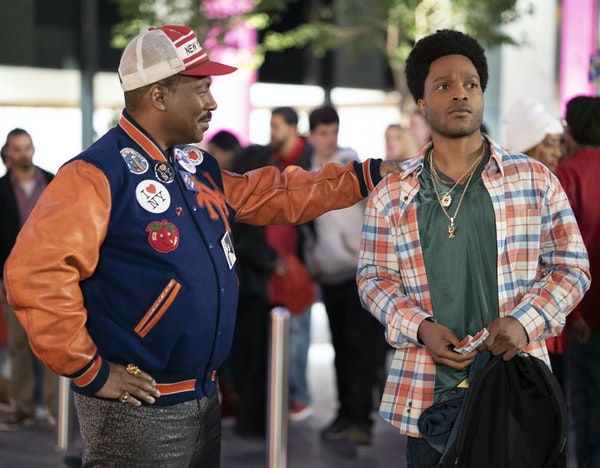 """Eddie Murphy and Jermaine Fowler in """"Coming 2 America."""" Paramount Pictures"""