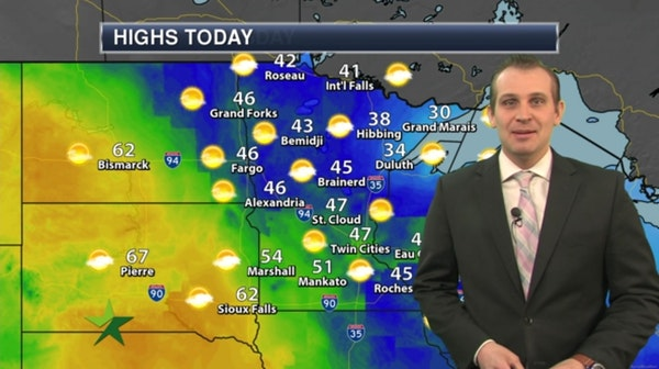 Afternoon forecast: More melting; high 47