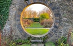The circular Moongate on the Mount Juliet Estate in County Kilkenny, Ireland.