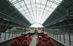 St Pancras International station in London. (AP Photo/Alastair Grant)