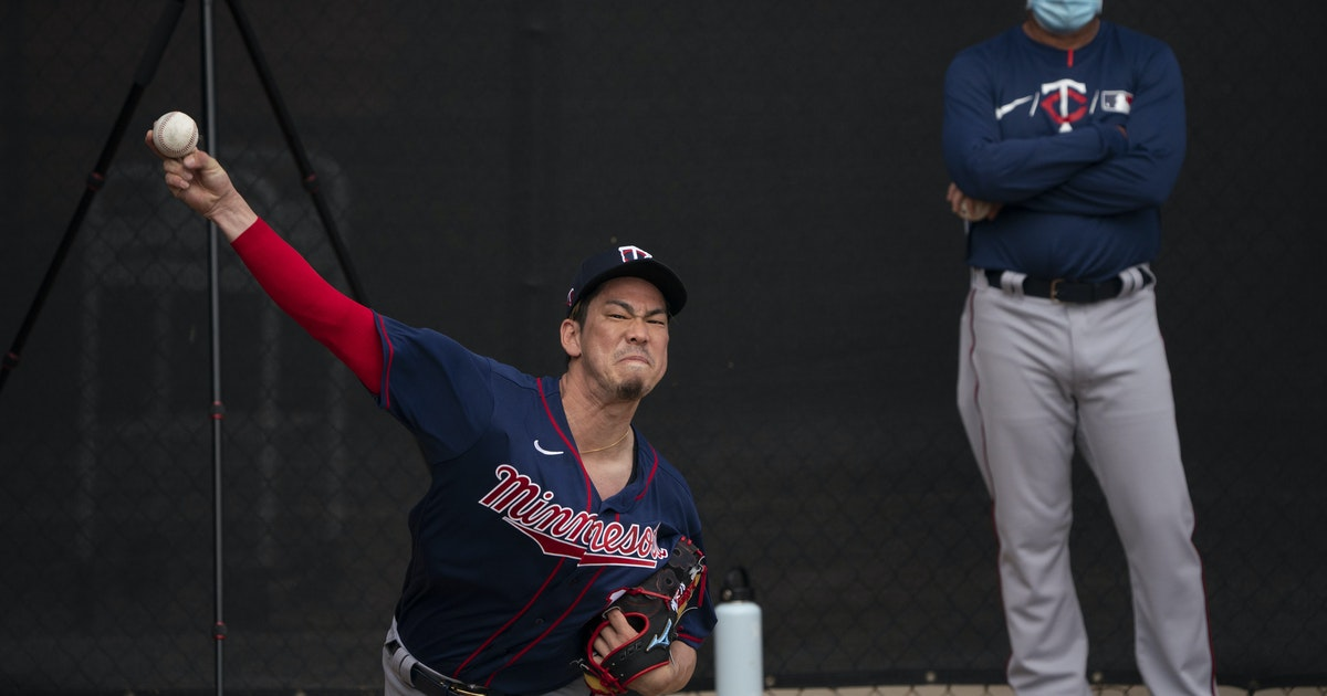 Twins starter Kenta Maeda's first spring test is pitching into, out of jam