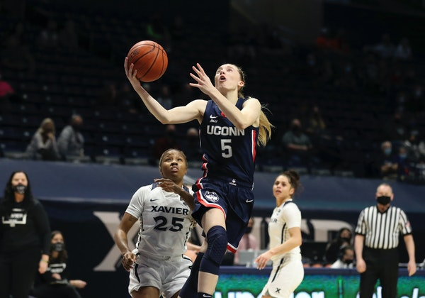 Paige Bueckers of Hopkins was named Big East player of the year and freshman of the year on Thursday.