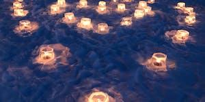 Mary Krogman made ice lanterns.