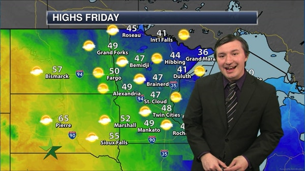 Afternoon forecast: 48, mix of clouds and sun