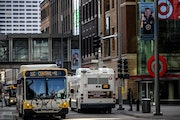 Metro Transit buses traveled on Nicollet Mall in downtown Minneapolis last year.