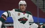 Minnesota Wild left wing Zach Parise (11) in the second period of an NHL hockey game Tuesday, Feb. 2, 2021, in Denver.