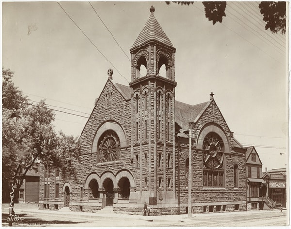 First Free Baptist Church, West Fifteenth and Nicollet, Minneapolis. (Minnestoa Historical Society)