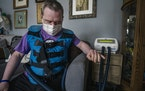 Sam Corbett, 38, who has Down syndrome, went to North Dakota this week with his mom, Heidi Randolph of Richfield, to get the COVID-19 vaccine. He uses