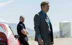 "Bob Odenkirk, right, as Jimmy McGill and Michael Mando, left, as Nacho Varga in ""Better Call Saul."""
