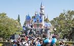Sleeping Beauty Castle, at the end of Main Street, in Disneyland Resort, in 2019.