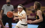 Gophers guard Sara Scalia, during a game earlier this season.
