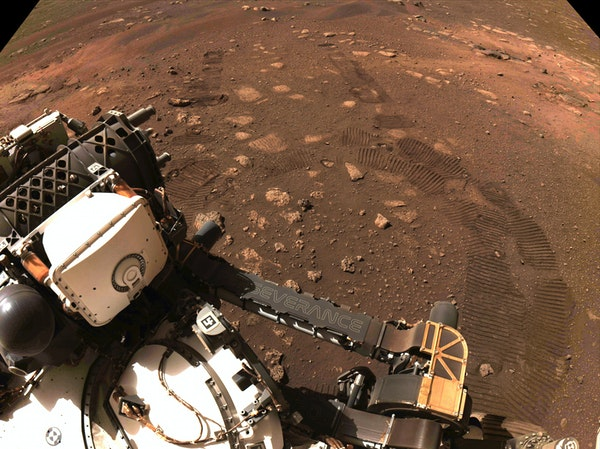 NASA shows Perseverance's first drive on Mars