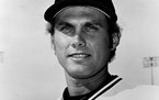 Minnesota Twins pitcher Tom Johnson in 1977