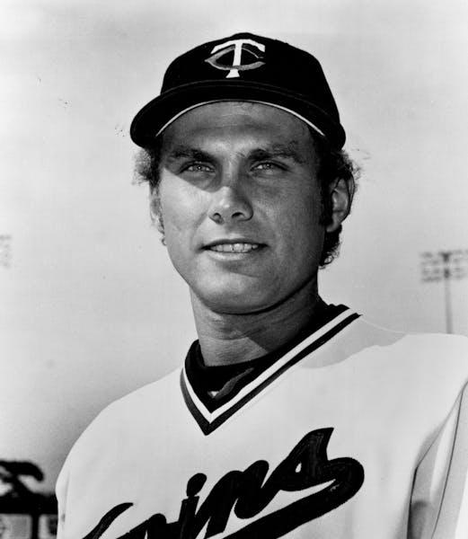 Minnesota Twins pitcher Tom Johnson in 1977