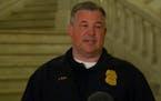 Minneapolis police spokesman John Elder spoke Saturday night.