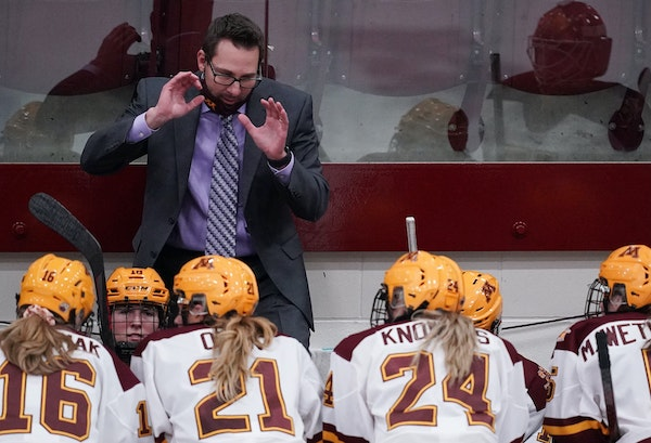 Coach Brad Frost and Gophers women's hockey team won't be in the NCAA tournament this year for the first time since 2007.