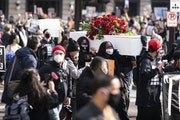 A rally was held in downtown Minneapolis on Sunday, March 7, one day before jury selection begins in the trial of former officer Derek Chauvin in the