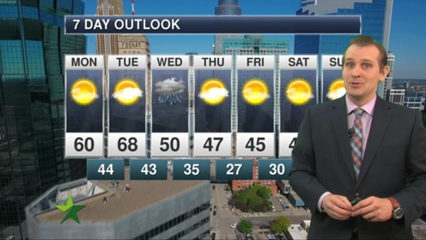 Morning forecast: Sunny and warm, high 60