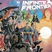 Infinite Frontier #0's cover shows a lot of characters, and the 64-page story tries to tell you the current status of each one.