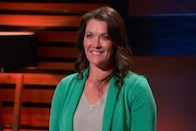 """Beth Fynbo of Oronoco, Minn., pitched her products for keeping babies busy and entertained, in an episode of ABC-TV's """"Shark Tank"""" that aired Fr"""