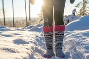 Who needs snowshoes? A few pairs of wool socks are all you need to run in the snow, according to Finnish wool sock running enthusiasts.