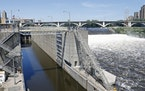 The Upper St. Anthony Falls Lock and Dam in Minneapolis.